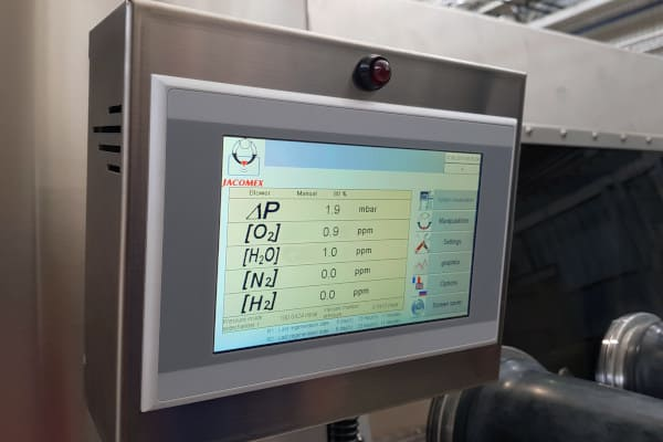 He - H2 Analyzer for Glove Boxes